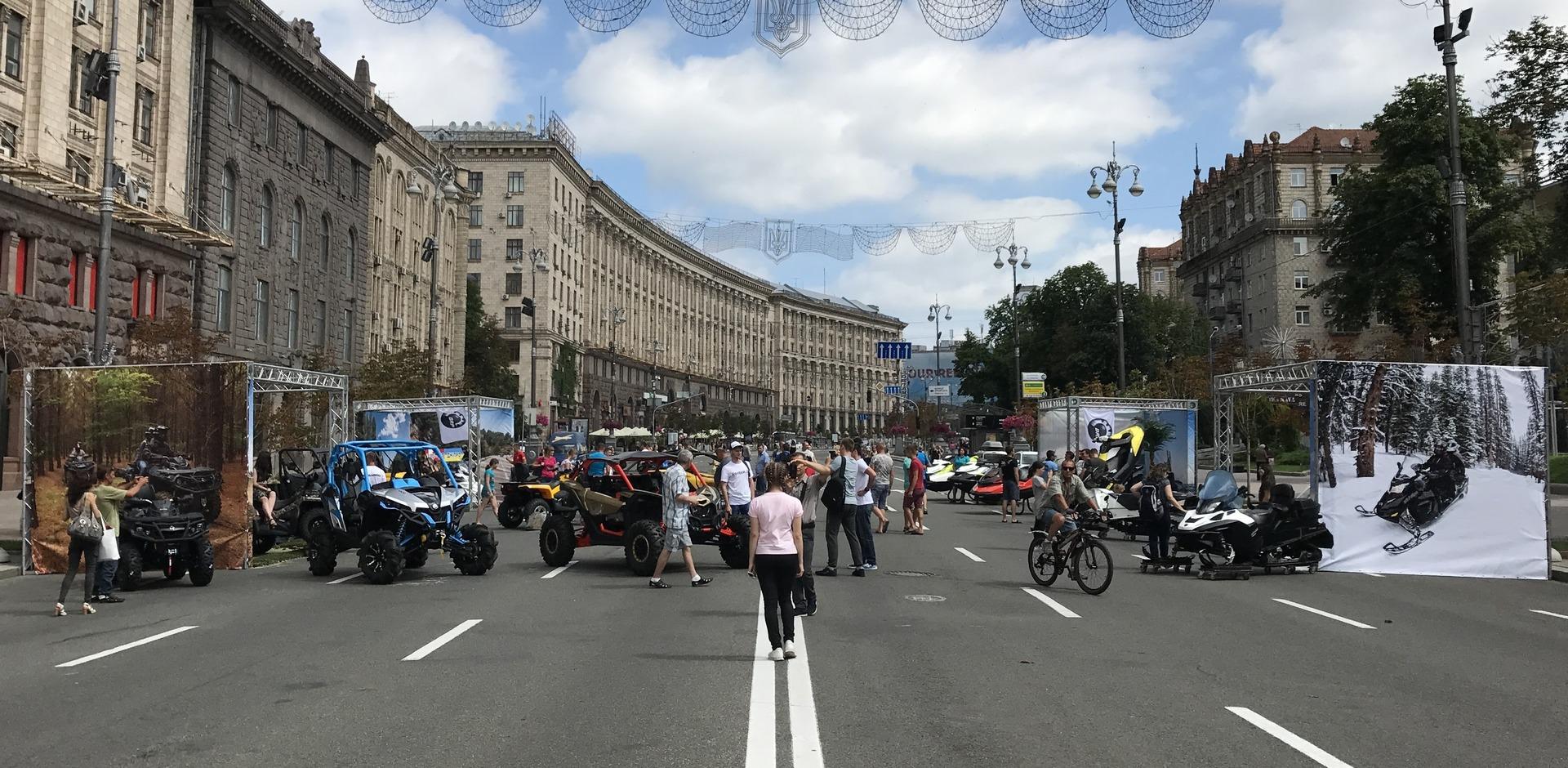Мототехника BRP в День Канады в Киеве