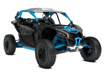 Maverick X3 X rc Turbo R Carbon Black & Gulfstream Blue '18