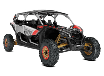 Maverick X3 MAX X RS TURBO R Hyper Silver-Liquid GoldCan-Am Red '19