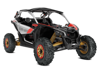 Maverick X3 X-rs Turbo R Hyper Silver-Liquid GoldCan-Am Red '19