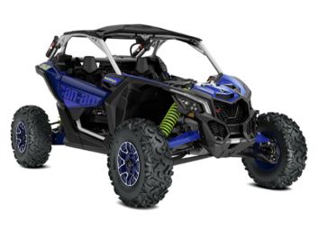 MAVERICK X3 X RS TURBO RR Hyper Silver, Intense Blue & Manta Green '20
