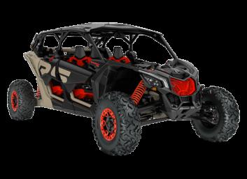 Maverick MAX X RS SS Turbo RR Desert Tan, Carbon Black & Can-Am Red '21