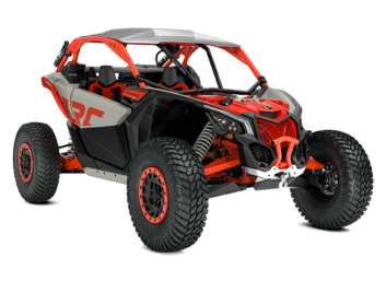 MAVERICK X3 X RC TURBO RR Desert Tan, Carbon Black & Can-Am Red '21